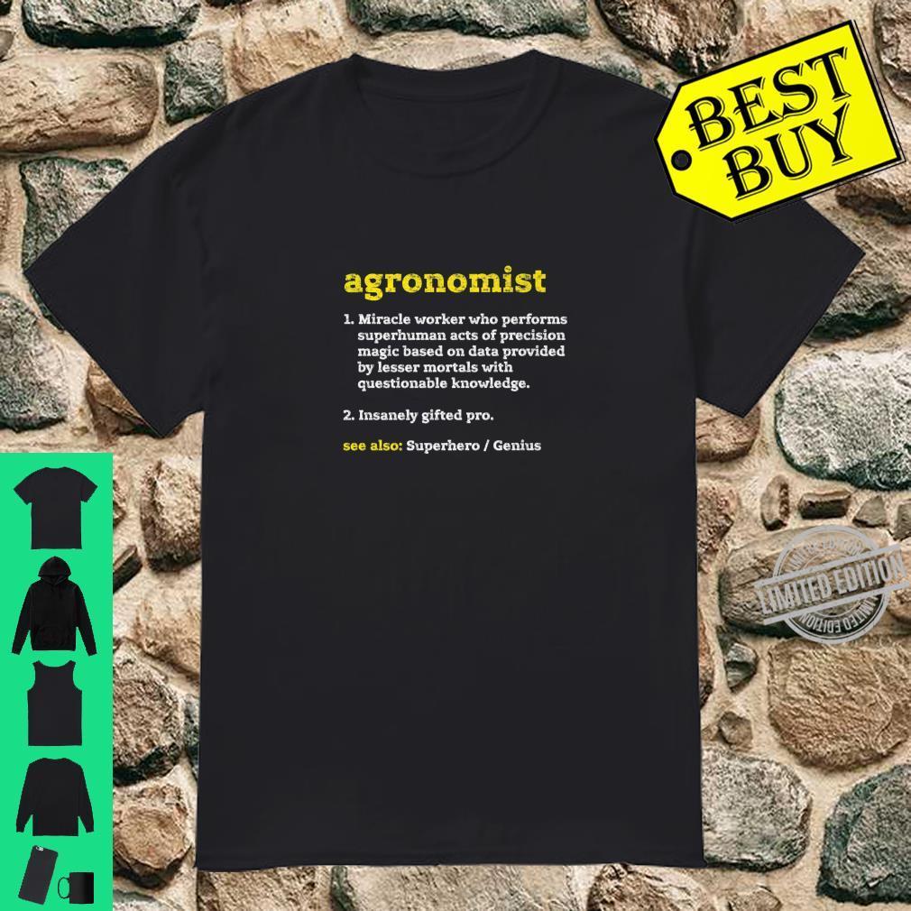 Amazing Agronomist Tee Shirt Design Long Sleeve Shirt